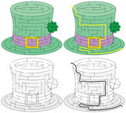 Easy green hat maze Stock Photography