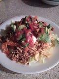 Easy ground turkey taco salad royalty free stock photos