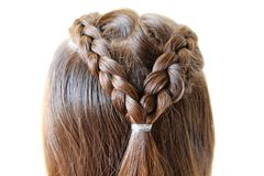 Hairstyle braids royalty free stock photo
