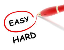 Easy hard concept illustration Stock Images