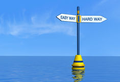 Easy and hard maritime way Royalty Free Stock Photo
