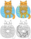 Easy hungry cat maze Royalty Free Stock Photos