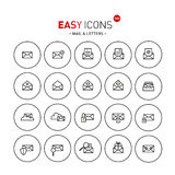 Easy icons 04b Mail. Vector thin line flat design icons set for mail, delivery and security themes Stock Illustration