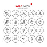 Easy icons 11b Money Stock Photography
