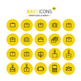 Easy icons 05c Briefcases Royalty Free Stock Image
