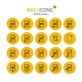 Easy icons 18c Docs. Vector thin line flat design icons set for office and document themes stock illustration