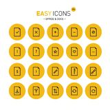 Easy icons 19c Docs. Vector thin line flat design icons set for office and document themes royalty free illustration