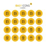 Easy icons 26c E-books. Vector thin line flat design icons set for file formats of digital electronic books stock illustration