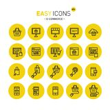 Easy icons 40c E-commerce. Vector thin line flat design icons set for e-commerce theme vector illustration