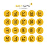 Easy icons 20c Files. Vector thin line flat design icons set for document and file formats themes royalty free illustration