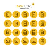 Easy icons 15c Papers. Vector thin line flat design icons set for office and document themes royalty free illustration