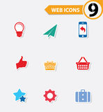 9 Easy icons. Colorful version royalty free illustration