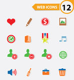 12 Easy icons. Colorful version royalty free illustration