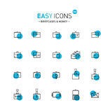 Easy icons 05d Briefcases Royalty Free Stock Photo