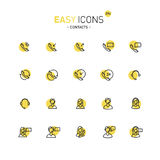 Easy icons 29d Contacts. Vector thin line flat design icons set for contact theme Royalty Free Illustration