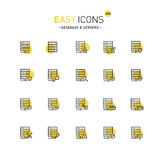 Easy icons 23d Database Stock Image