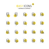 Easy icons 25d Database Stock Image