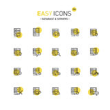 Easy icons 28d Database Stock Photos