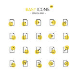 Easy icons 19d Docs. Vector thin line flat design icons set for office and document themes Stock Photos