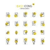 Easy icons 16d Docs. Vector thin line flat design icons set for office and document themes vector illustration