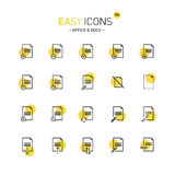 Easy icons 18d Docs. Vector thin line flat design icons set for office and document themes royalty free illustration