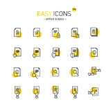 Easy icons 17d Docs. Vector thin line flat design icons set for office and document themes royalty free illustration