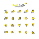 Easy icons 11d Money. Vector thin line flat design icons set for money and finance themes Vector Illustration