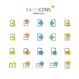 Easy icons 15D Papers Royalty Free Stock Photo