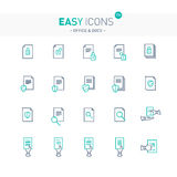 Easy icons 17e Docs. Vector thin line flat design icons set for office and document themes royalty free illustration