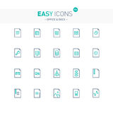 Easy icons 20e Files. Vector thin line flat design icons set for document and file formats themes Stock Photography