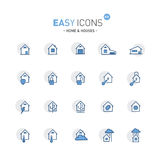 Easy icons 02f Home. Vector thin line flat design icons set for home and connected themes stock illustration