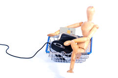 Easy internet shopping Stock Image