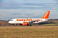 Easy Jet Airbus at take off Royalty Free Stock Images