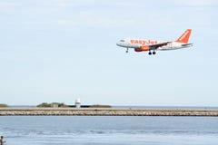 Easy Jet airplane landing Stock Image