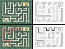 Easy key maze Stock Images