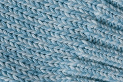 Easy knit cuff detail. Close up of easy knit cuff detail light blue and white mixed Royalty Free Stock Photos