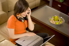 Easy Listening Laptop Stock Photos