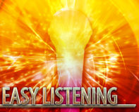Easy Listening musc abstract concept digital illustration Royalty Free Stock Photos