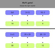 Easy math game for kids Royalty Free Stock Image