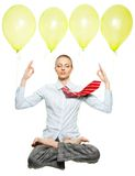 Easy meditation at work stock photography
