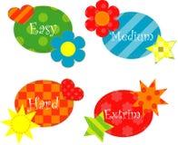 Easy, medium hard and extrim Stock Image