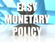 Easy Monetary Policy. Image with hi-res rendered artwork that could be used for any graphic design Royalty Free Stock Photo