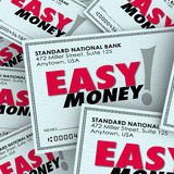 Easy Money Check Pile Passive Income Effortless Free Fast Paymen Stock Photos