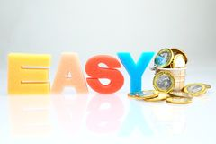 Easy money concept Stock Images