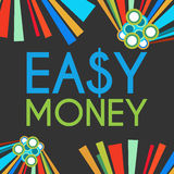 Easy Money Dark Colorful Elements Stock Image