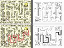 Easy mouse maze Royalty Free Stock Image