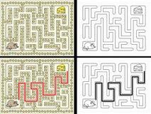 Easy mouse maze stock illustration