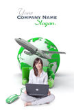 Easy online trip planning royalty free stock photography
