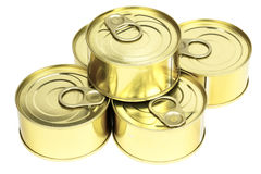 Easy open cans stacked Royalty Free Stock Photo