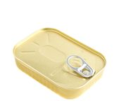 Easy open sardine can with the pull tab Royalty Free Stock Photography